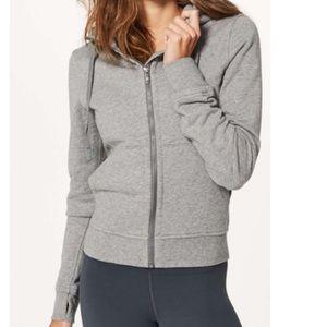 Lululemon press pause hoodie heathered medium grey